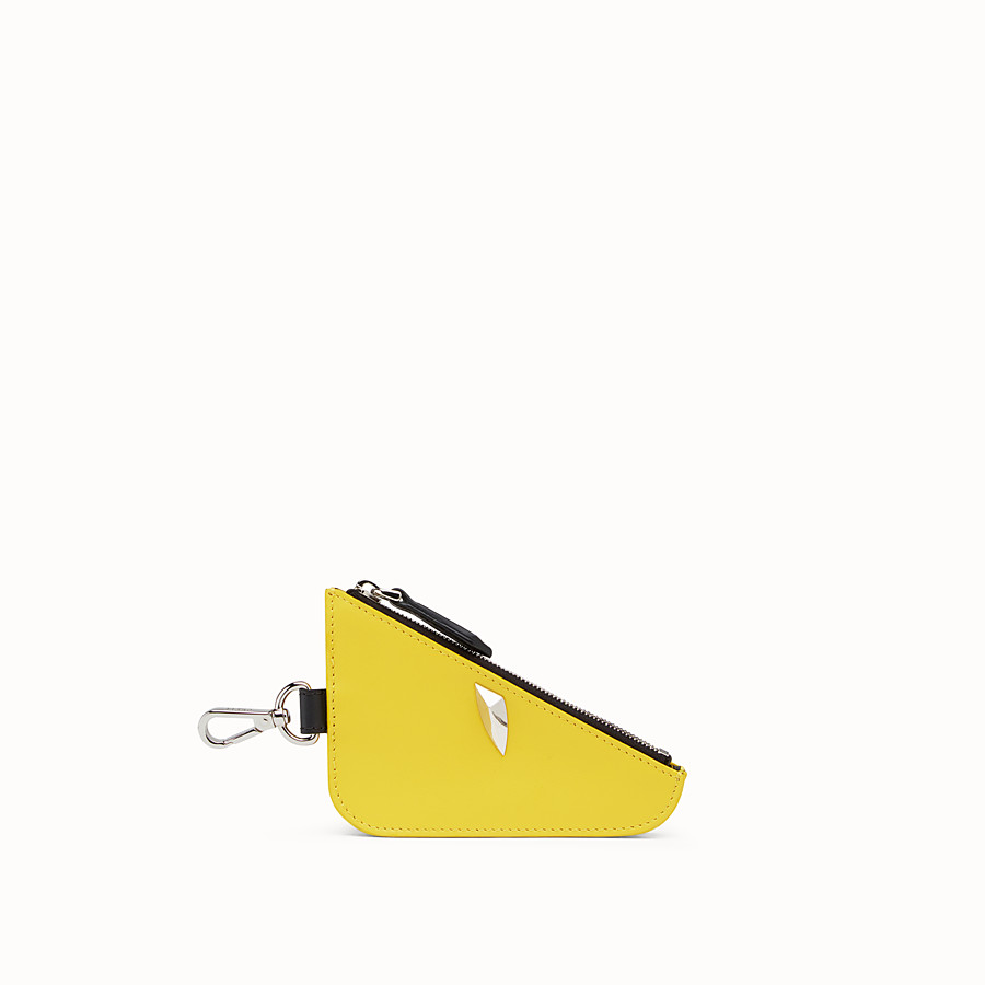 FENDI CLUTCH - Yellow leather coin purse - view 1 detail