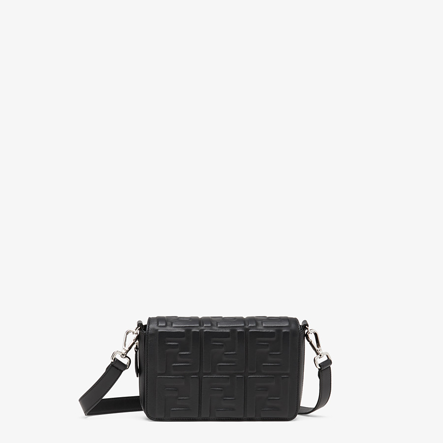 FENDI FLAP BAG - Black nappa leather bag - view 1 detail