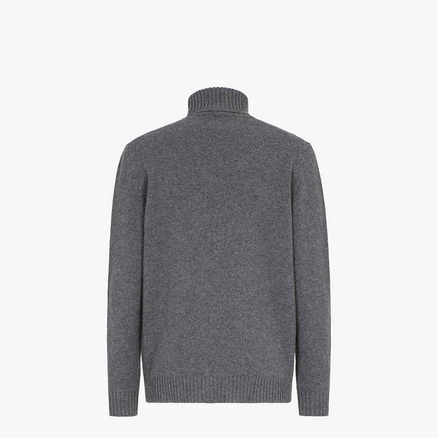 FENDI TURTLENECK - Blue cashmere jumper - view 2 detail