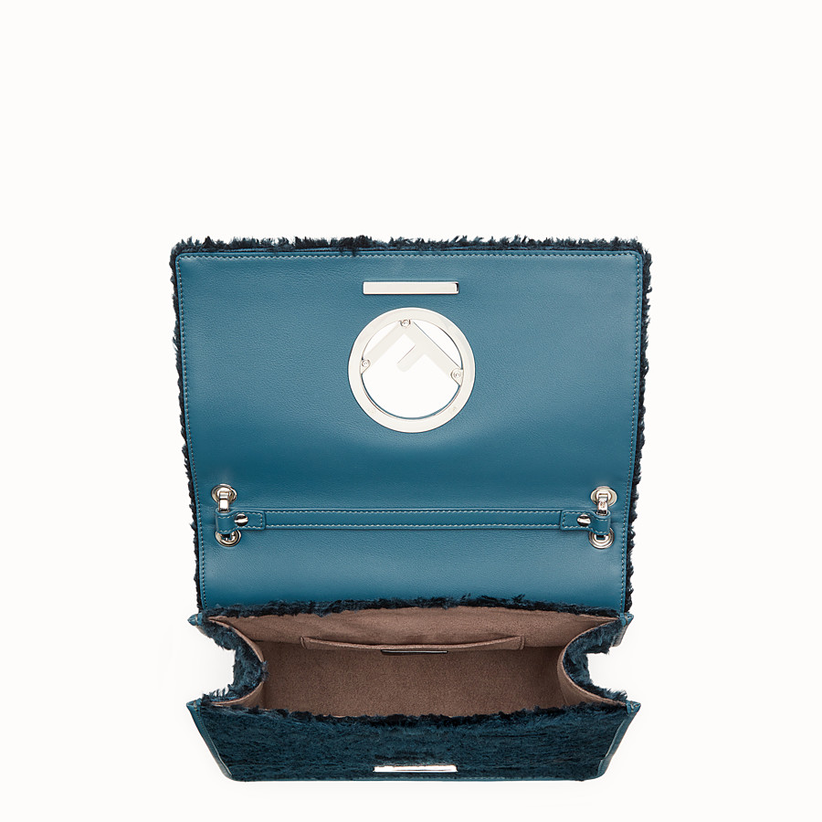 FENDI KAN I F - Blue velvet bag - view 4 detail