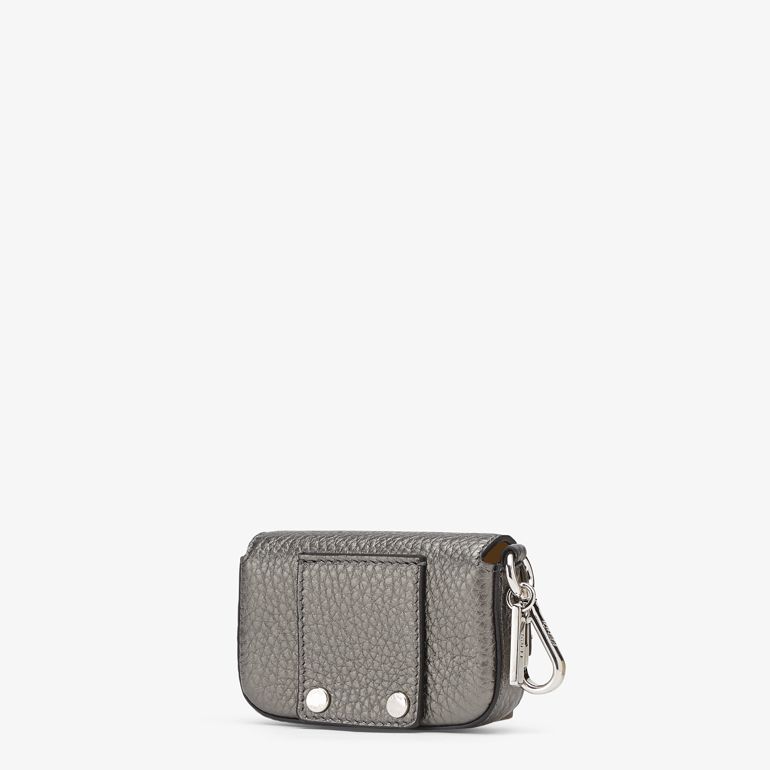 FENDI NANO BAGUETTE CHARM - Gray leather charm - view 2 detail