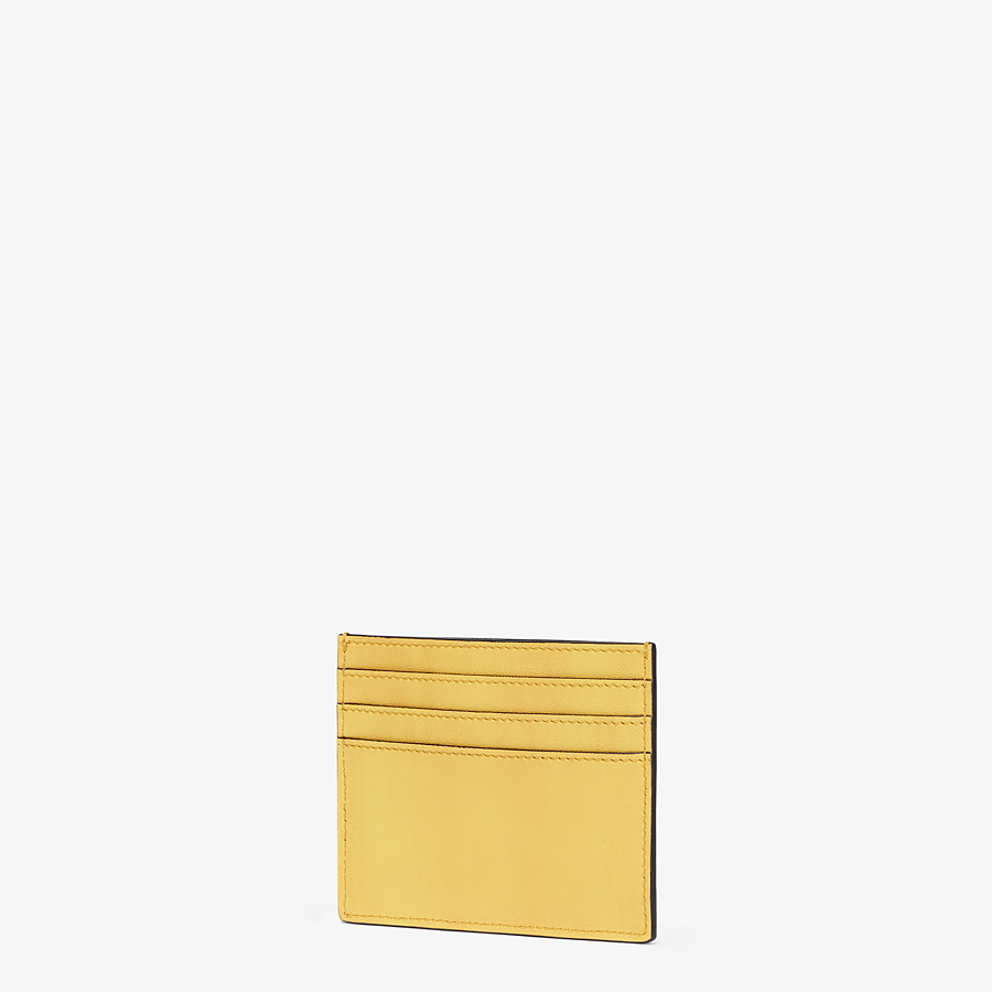FENDI CARD HOLDER - Yellow leather card holder - view 2 detail