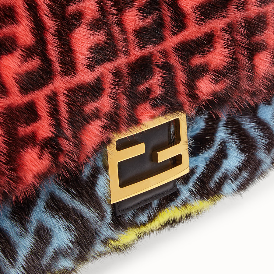 FENDI BAGUETTE - Multicolour mink bag - view 5 detail