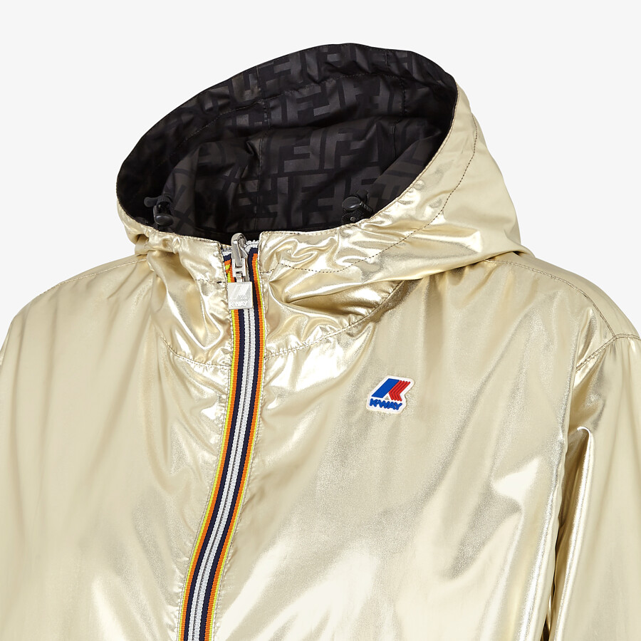 FENDI WINDBREAKER - Gold nylon FENDI x K-Way® jacket - view 3 detail