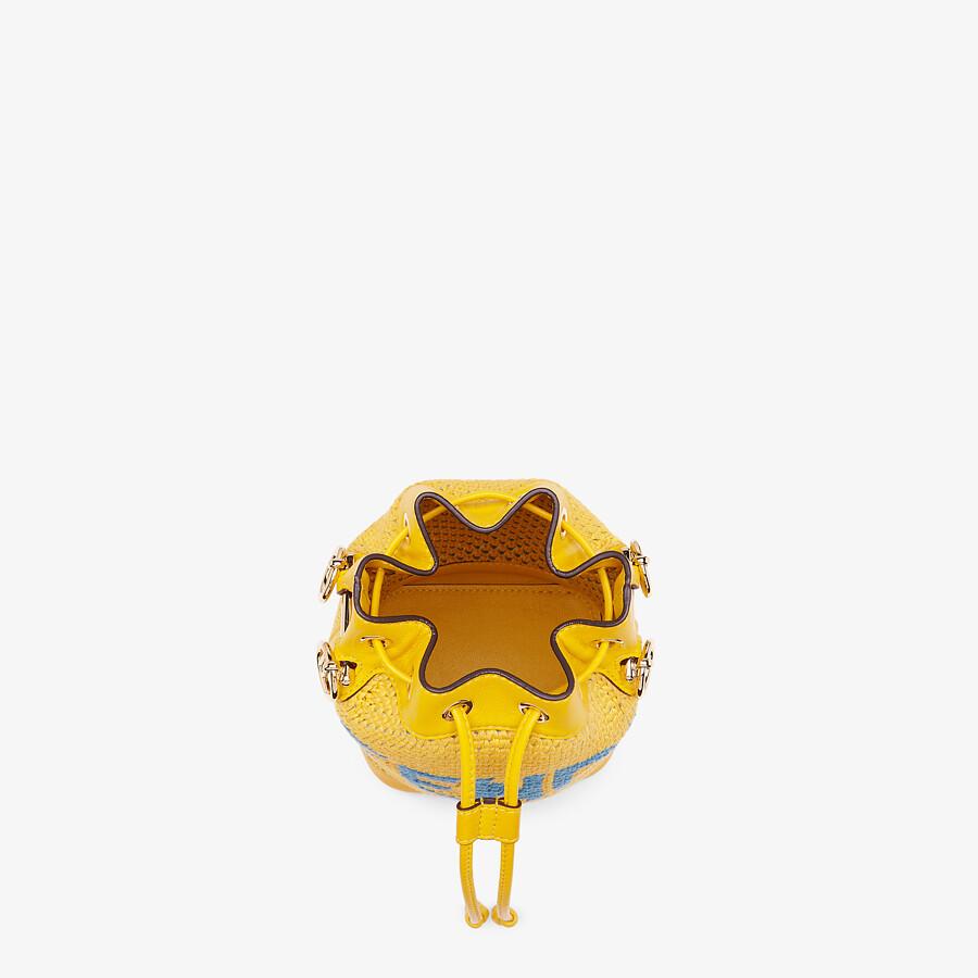 FENDI MON TRESOR - Yellow crochet cotton mini-bag - view 5 detail
