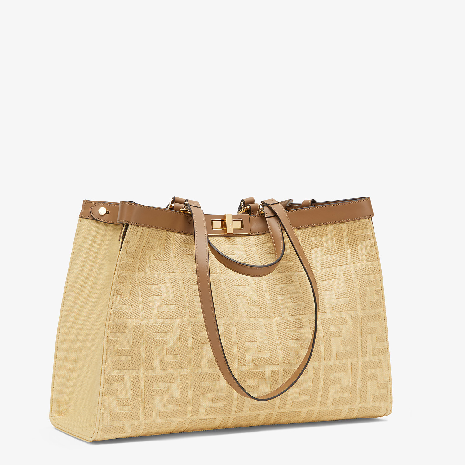 FENDI PEEKABOO X-TOTE - Beige canvas bag - view 3 detail
