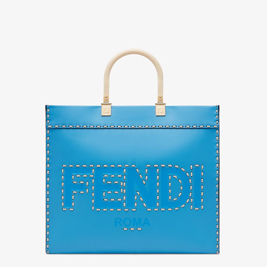 FENDI FENDI SUNSHINE MEDIUM - Blue leather shopper - view 1 detail