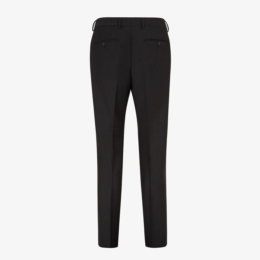 FENDI TROUSERS - Black wool trousers - view 2 detail