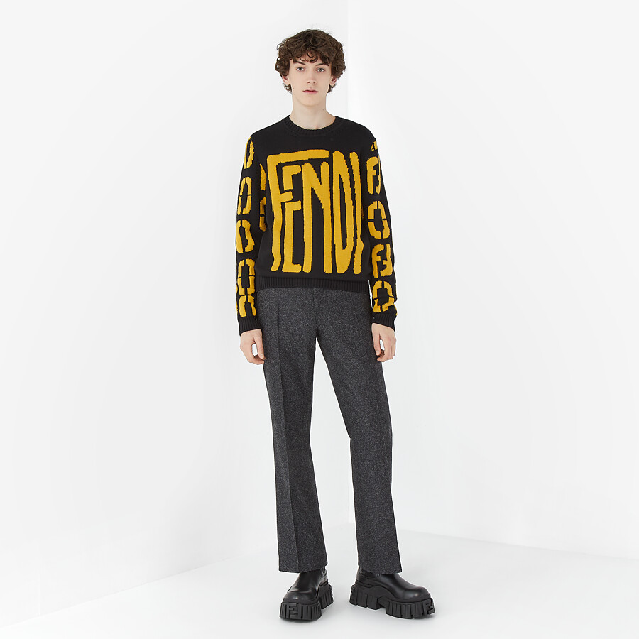 FENDI SWEATER - Black wool sweater - view 4 detail