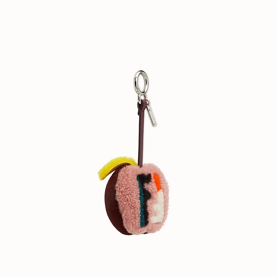 FENDI APPLE BAG CHARM - Charm in multicolour fur - view 1 detail