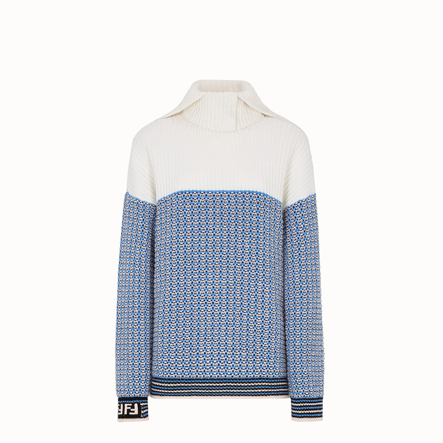 FENDI PULLOVER - Micro-check wool jumper - view 1 detail