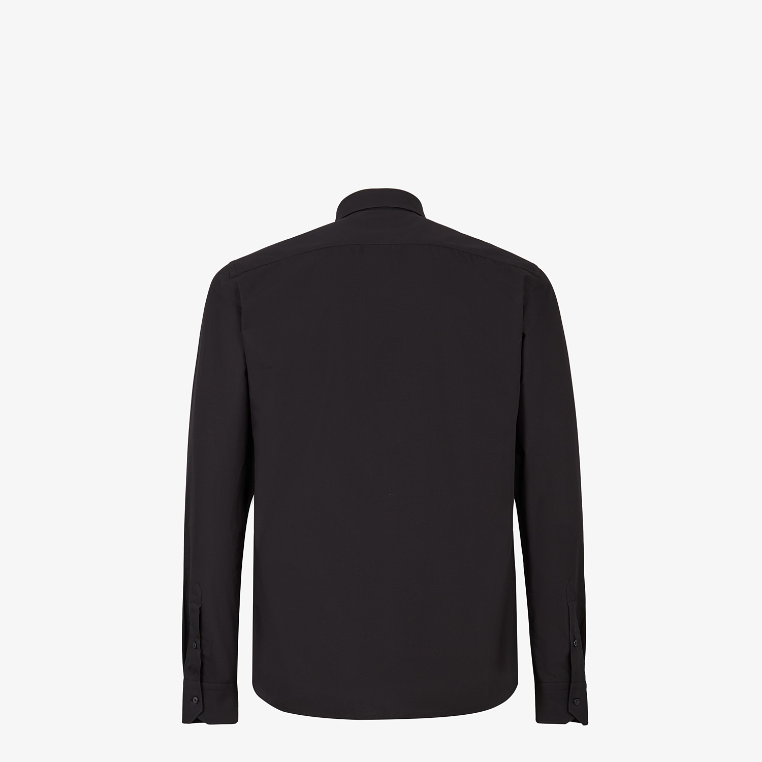 FENDI SHIRT - Black poplin shirt - view 2 detail