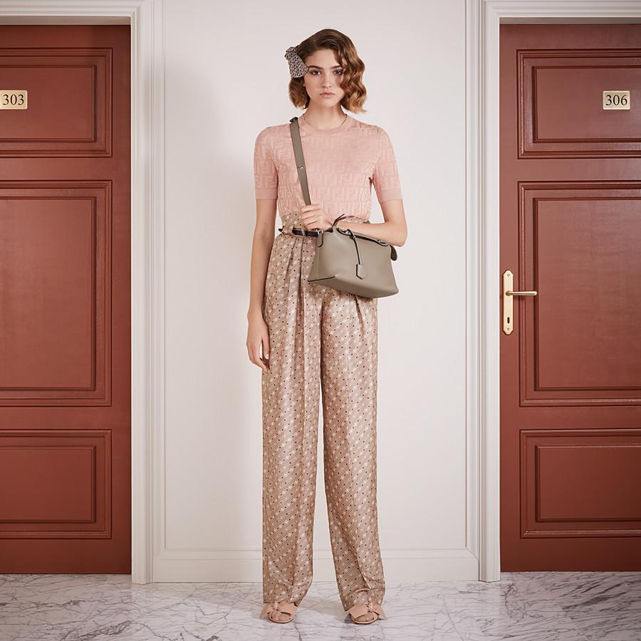 FENDI TROUSERS - Beige silk trousers - view 4 detail