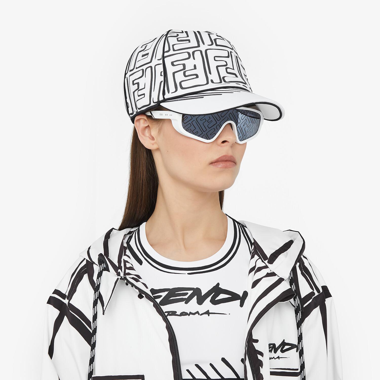 FENDI HAT - White Lycra® baseball cap - view 3 detail