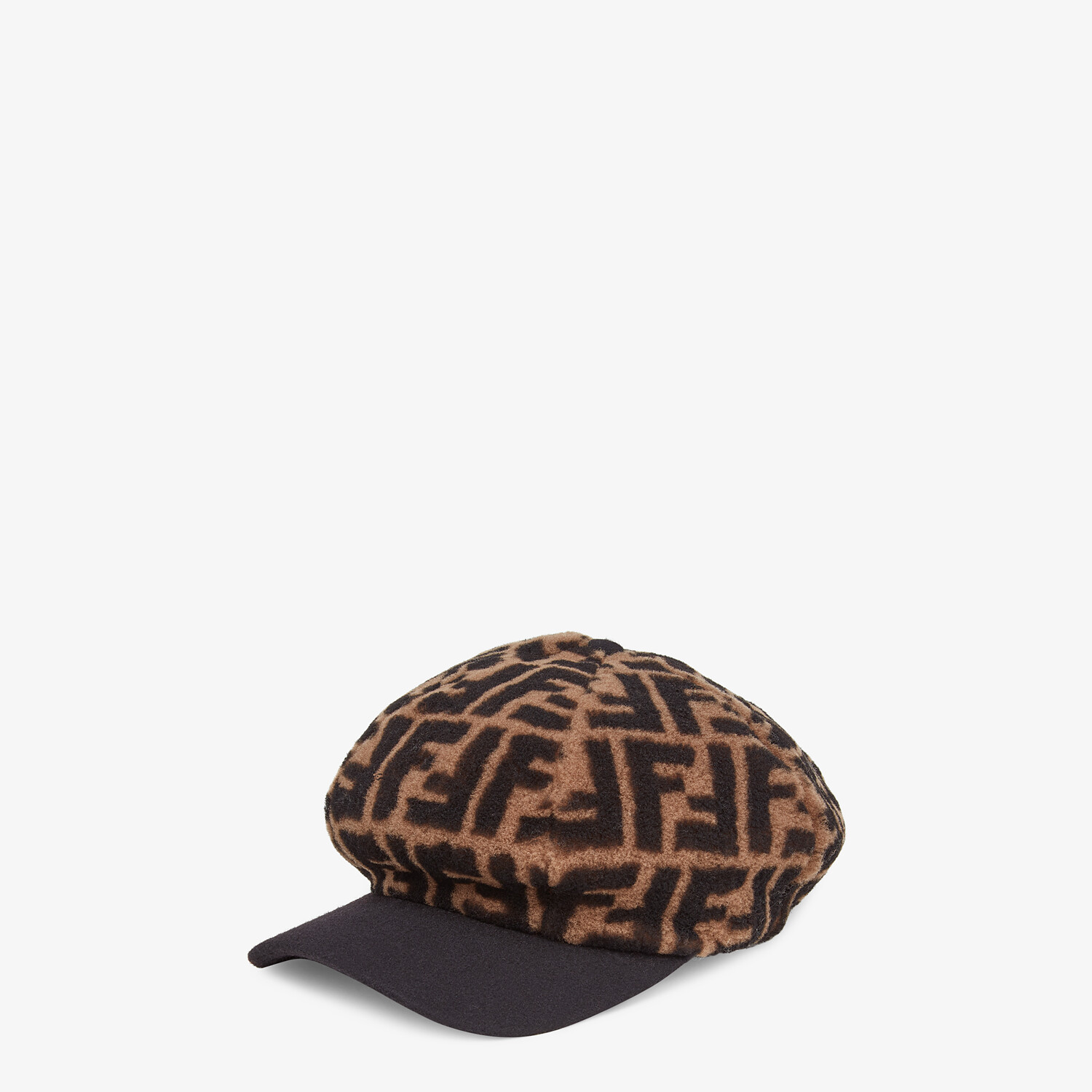 FENDI HAT - Baseball cap in brown shearling - view 1 detail