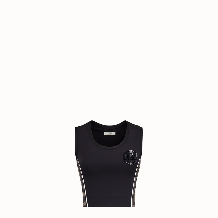 FENDI HOSE - Radlerhose aus schwarzem Stretch-Jersey - view 1 detail