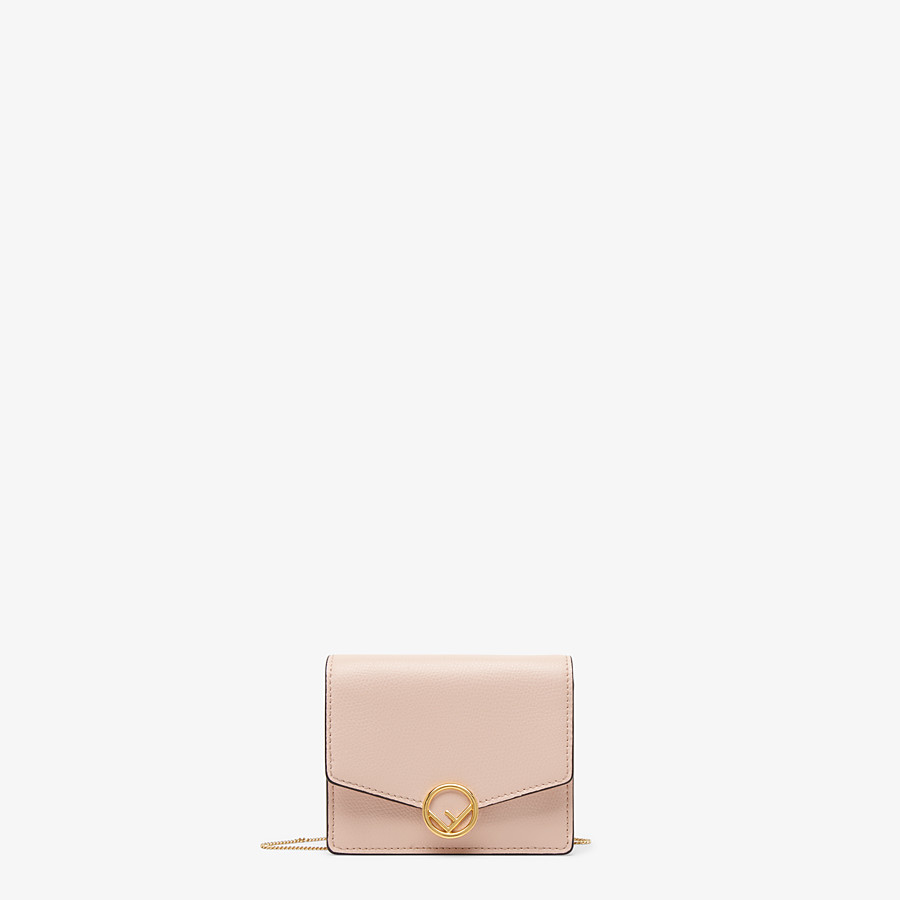 FENDI WALLET ON CHAIN - Pink leather mini-bag - view 1 detail