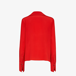 FENDI SHIRT - Red crêpe de Chine blouse - view 2 thumbnail