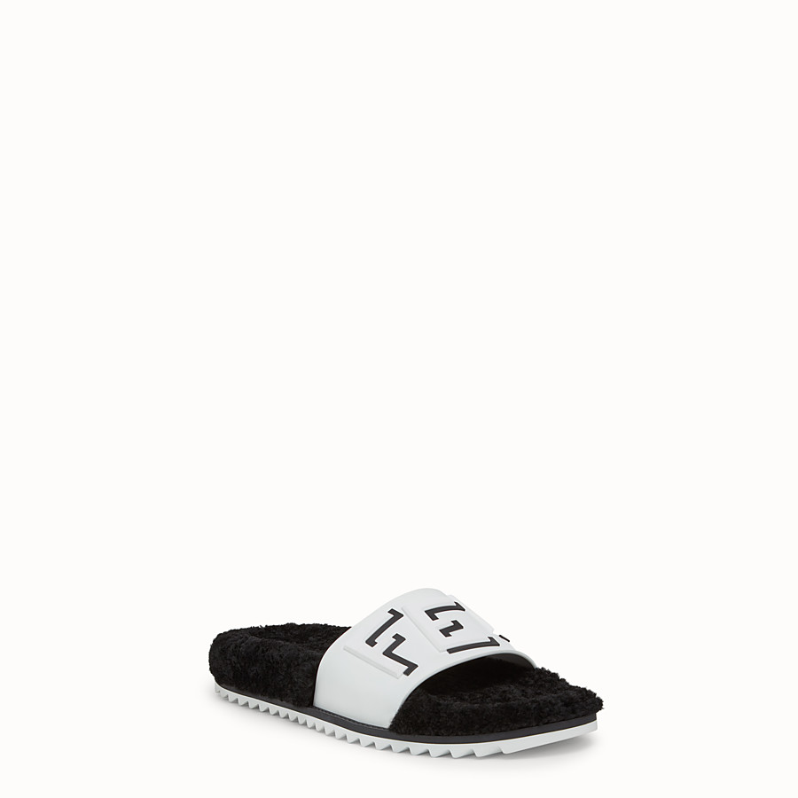 FENDI SLIDES - White PU slides - view 2 detail