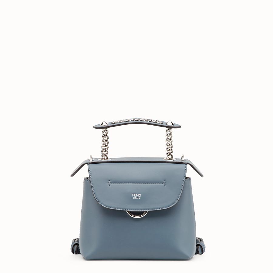 FENDI 迷你款式BACK TO SCHOOL背包 - 小型款藍色皮革背包 - view 1 detail