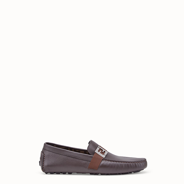 FENDI LOAFERS - Brown leather drivers - view 1 small thumbnail