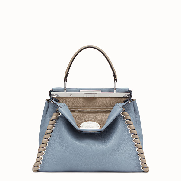 FENDI PEEKABOO ICONIC MEDIUM - Pale blue leather bag - view 1 small thumbnail