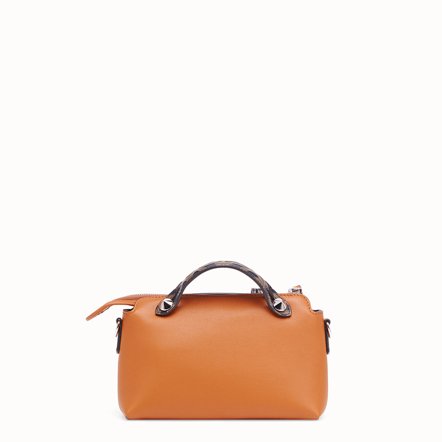FENDI BY THE WAY MINI - Small brown leather Boston bag - view 4 detail