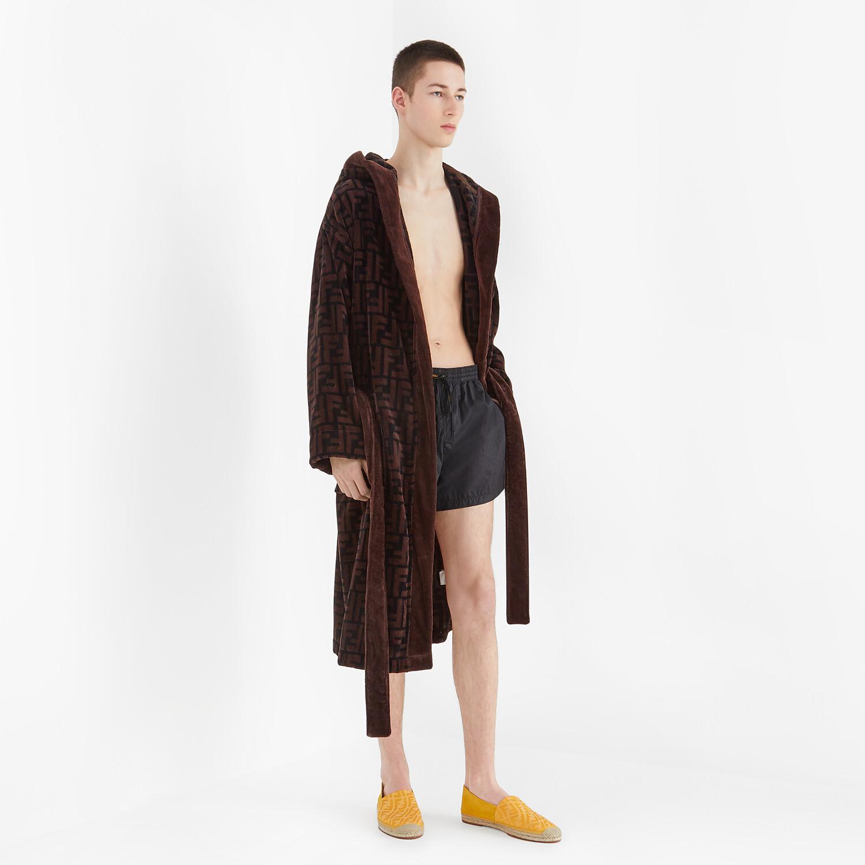 FENDI 浴袍 - 棕色棉質浴袍 - view 4 detail