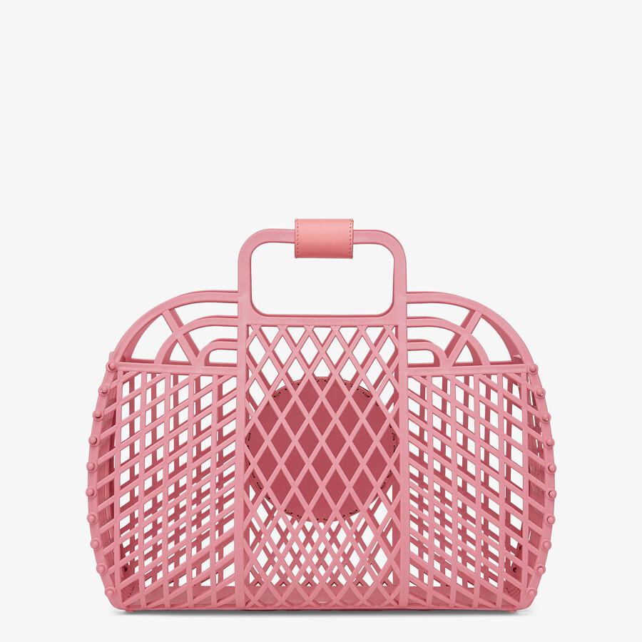 FENDI FENDI BASKET MEDIUM - Pink recycled plastic mini-bag - view 4 detail