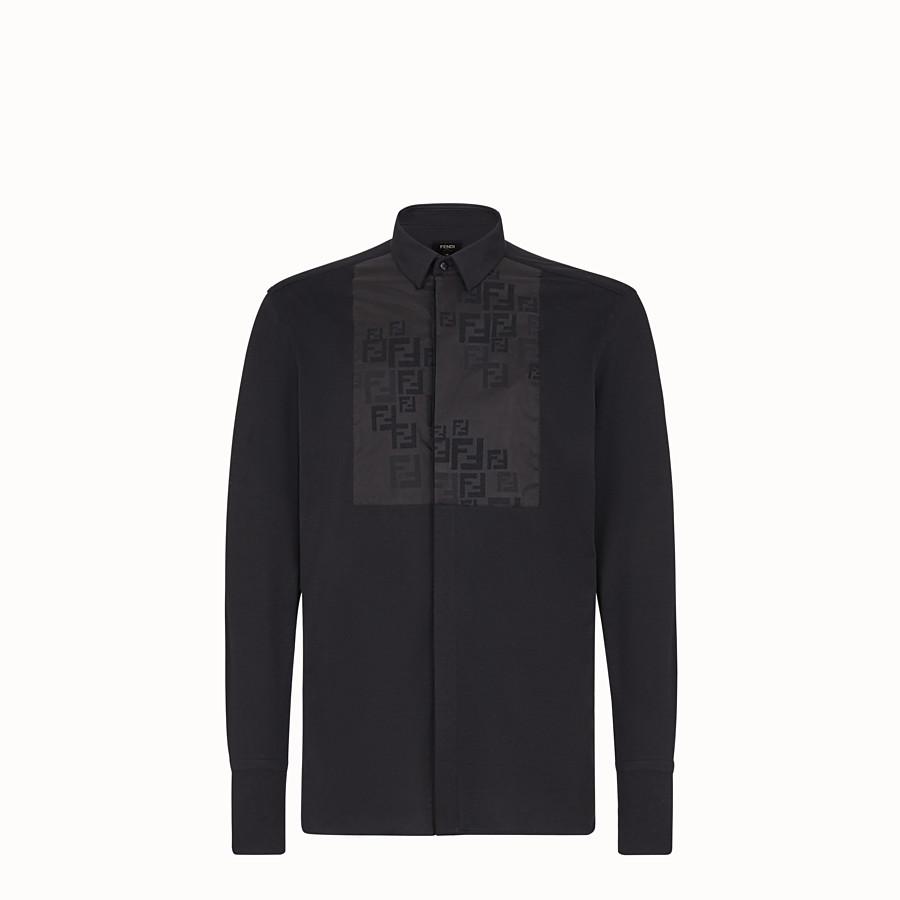 FENDI SHIRT - Black jersey shirt - view 1 detail