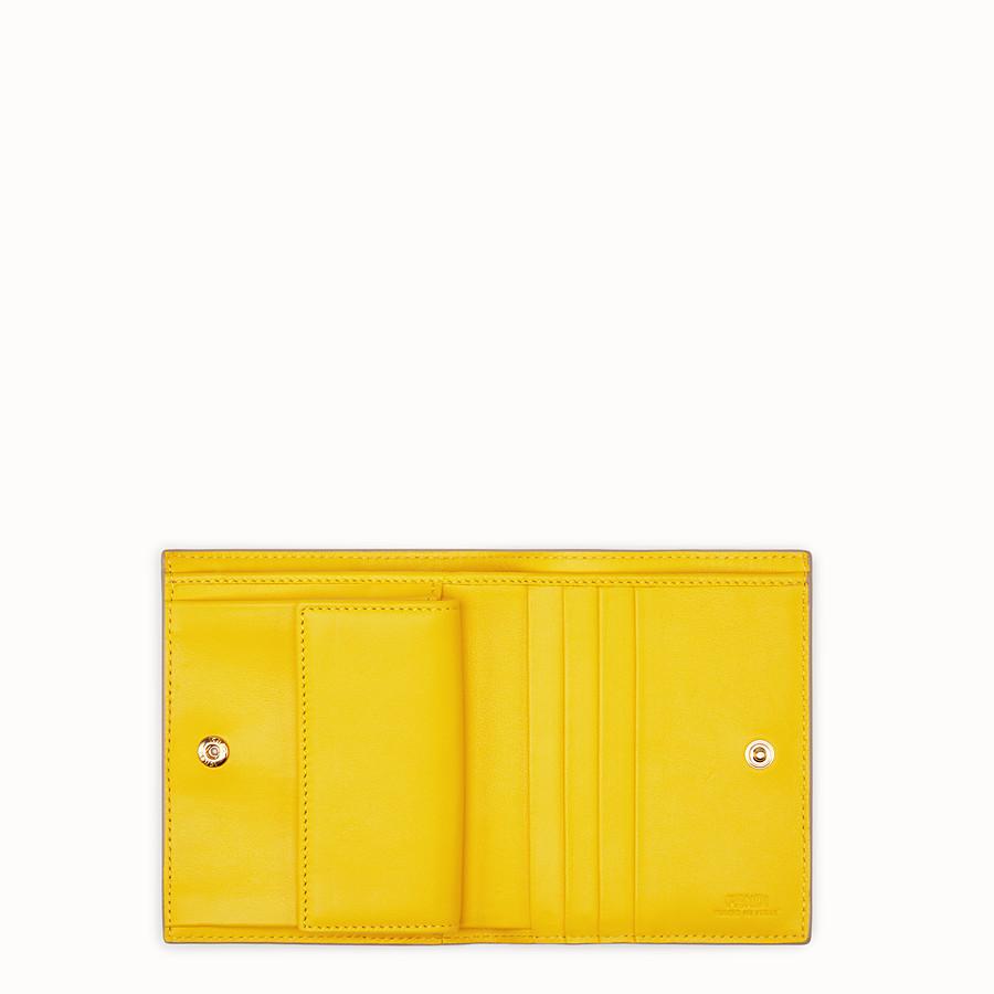 FENDI 二つ折り財布 - ブラウンレザー コンパクト財布 - view 4 detail