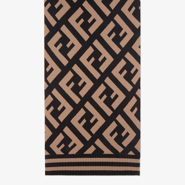 FENDI FF SCARF - Multicolour wool and viscose shawl - view 1 detail