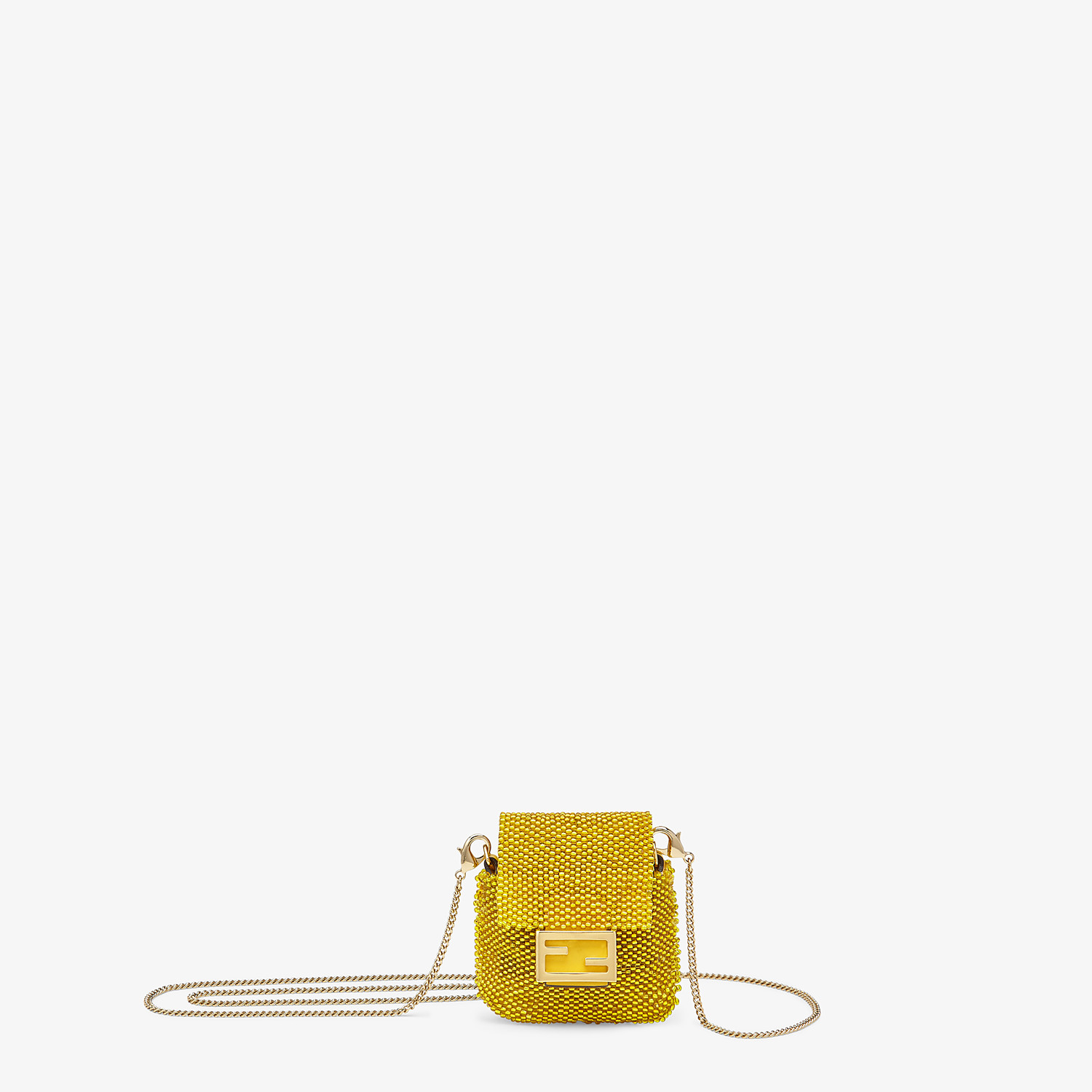 FENDI PICO BAGUETTE CHARM - Charm with yellow beads - view 1 detail