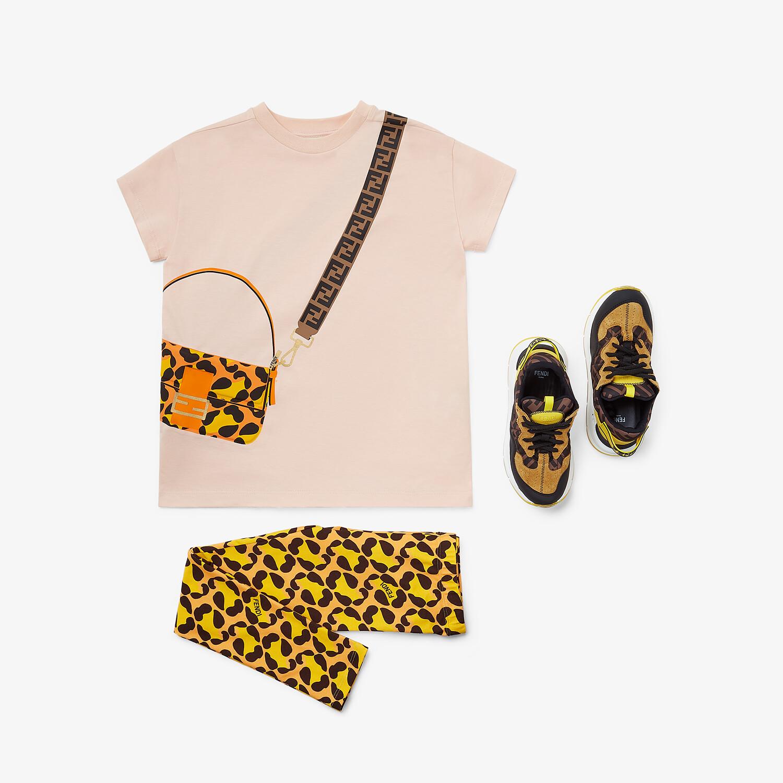 FENDI JUNIOR T-SHIRT - Pink jersey junior T-shirt - view 4 detail