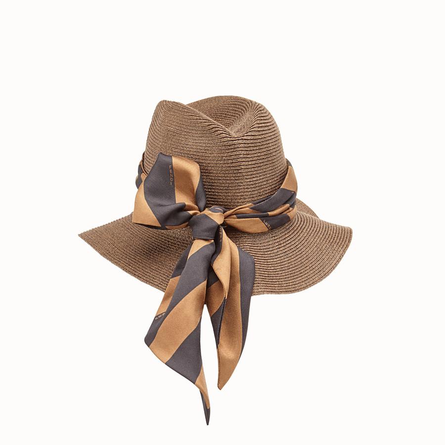FENDI PACKABLE HAT - Cappello in paglia marrone - vista 2 dettaglio
