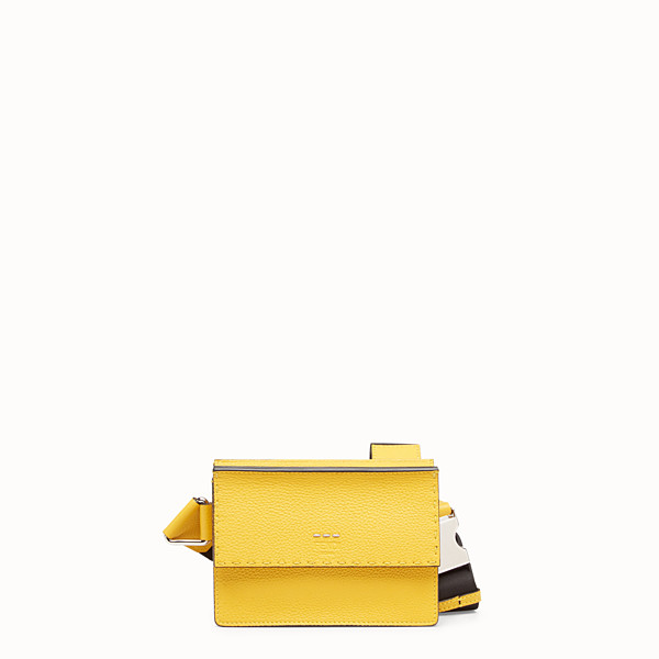 FENDI MESSENGER - Yellow leather small bag - view 1 small thumbnail