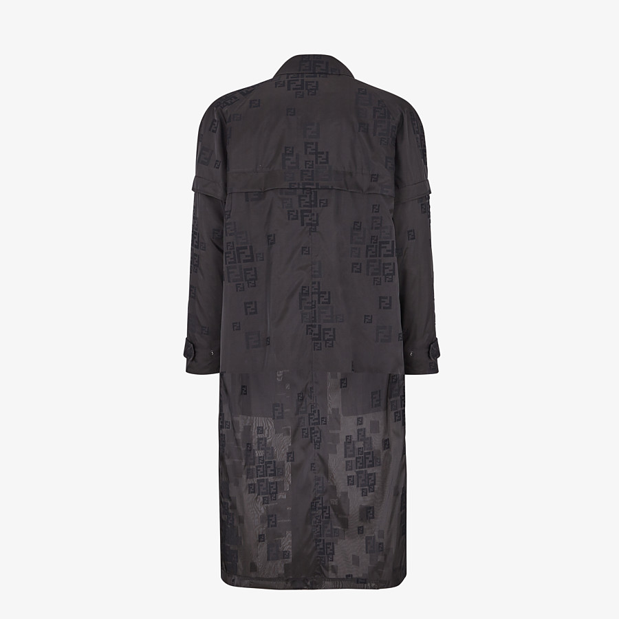 FENDI PARKA - Black organza trench coat - view 2 detail