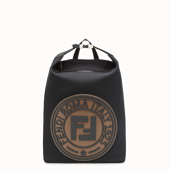 FENDI BACKPACK - Black canvas backpack - view 1 small thumbnail