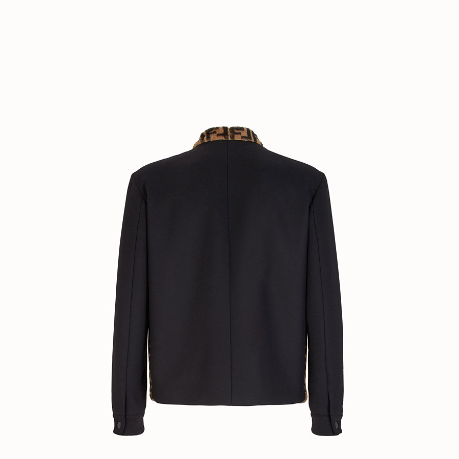 FENDI BLOUSON JACKET - Black felt blouson. - view 2 detail
