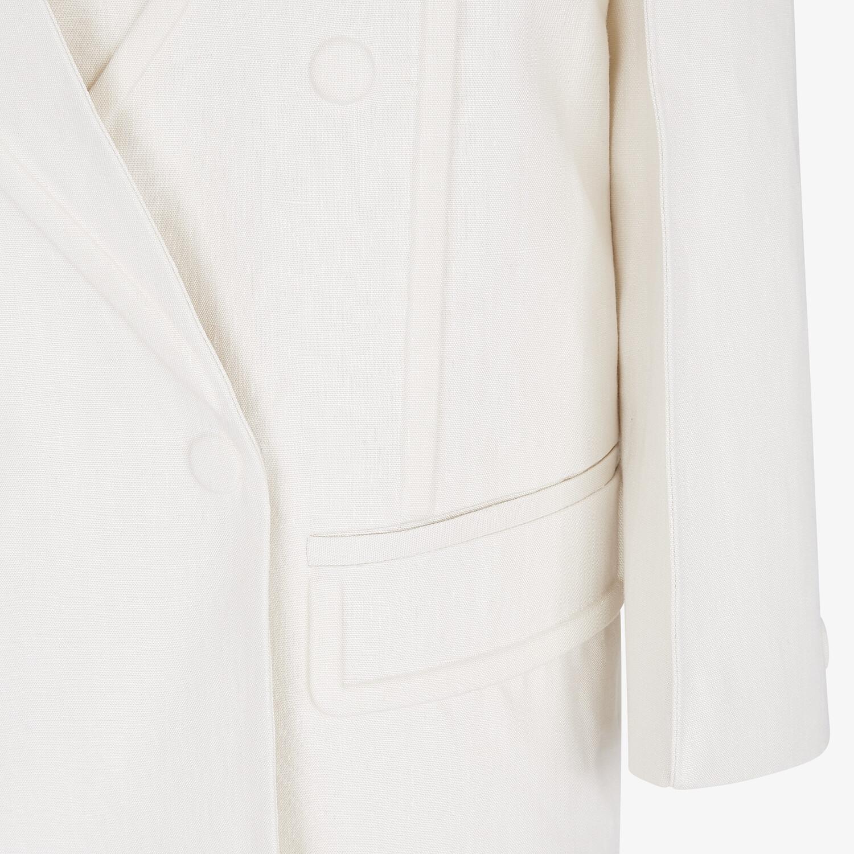 FENDI JACKET - White linen jacket - view 3 detail