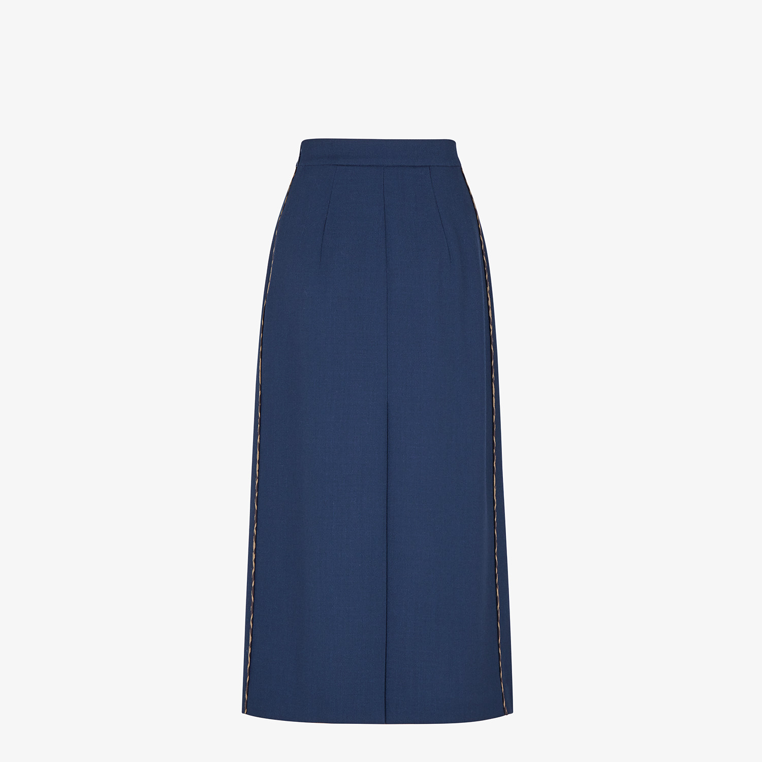FENDI SKIRT - Blue wool skirt - view 2 detail