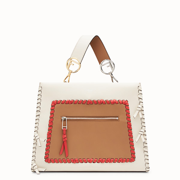 FENDI RUNAWAY REGULAR - White leather bag - view 1 small thumbnail