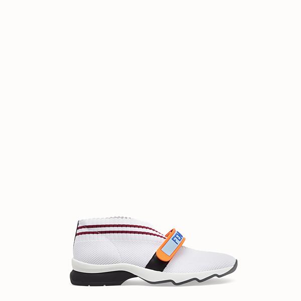Femme Sneakers Fendi En Et Baskets Pour Cuir xqvPU6