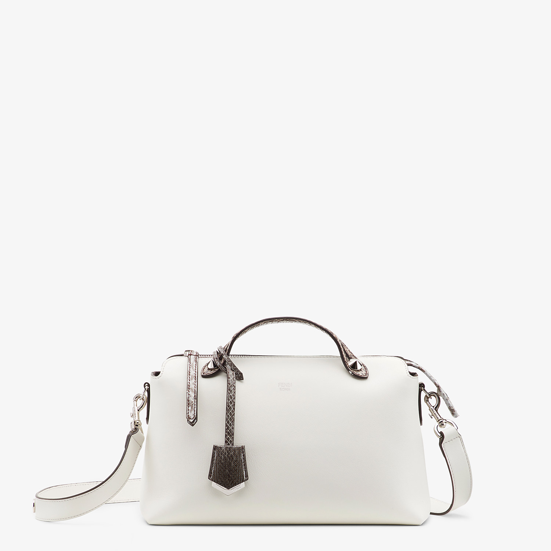 FENDI BY THE WAY MEDIUM - Exotic white leather Boston bag - view 1 detail