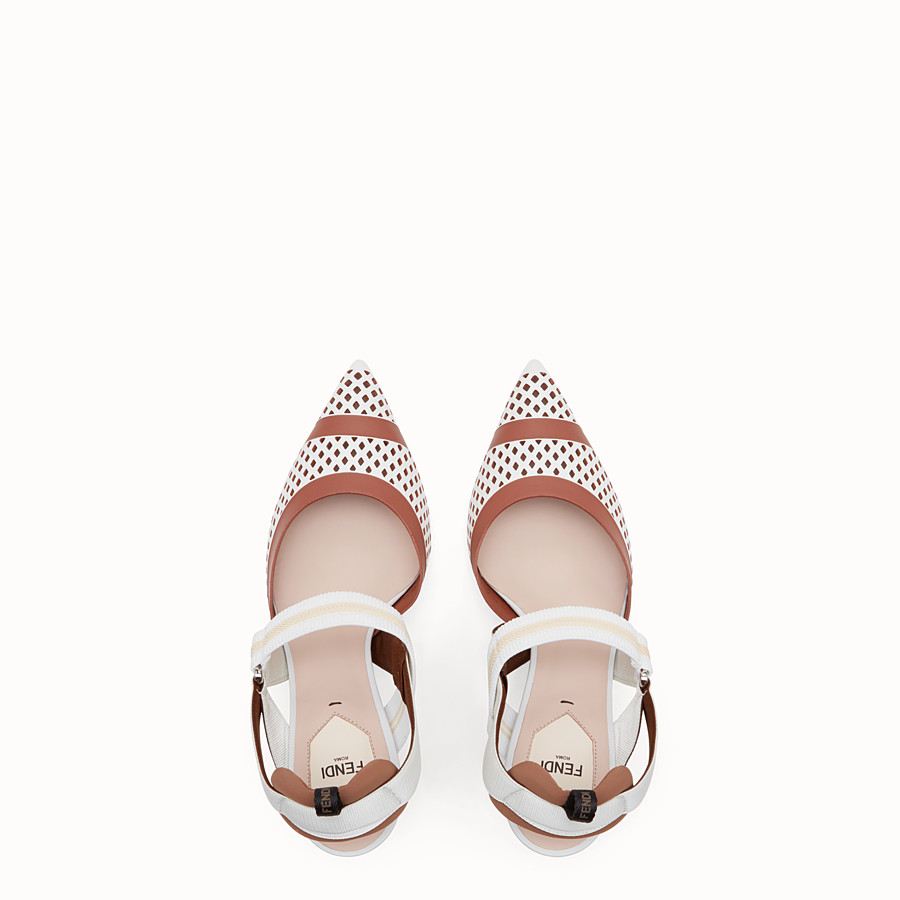 FENDI SLINGBACK - Colibrì in white leather - view 4 detail