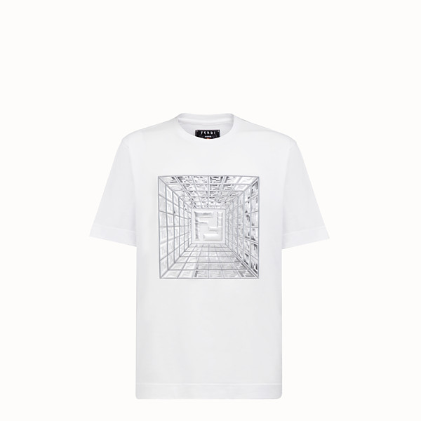 FENDI T-SHIRT - T-shirt Fendi Prints On en coton - view 1 small thumbnail