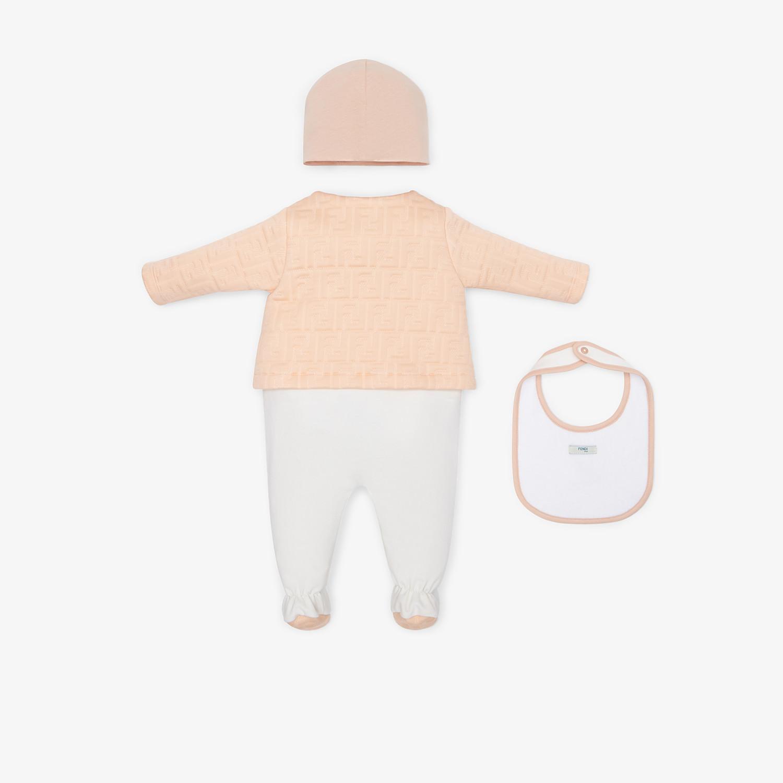 FENDI SET - Kit baby in misto cotone rosa - vista 2 dettaglio