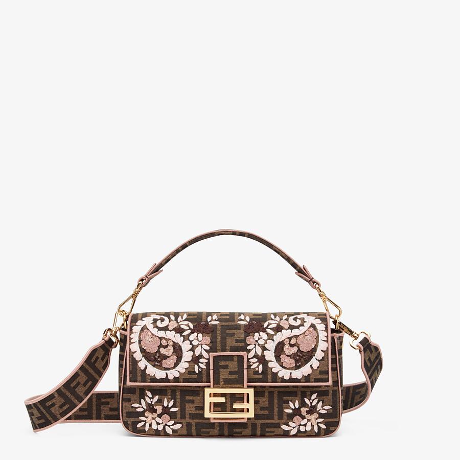 Embroidered FF fabric bag - BAGUETTE | Fendi