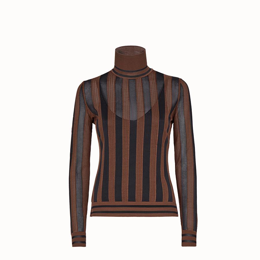 FENDI PULLOVER - Multicolour silk jumper - view 1 detail