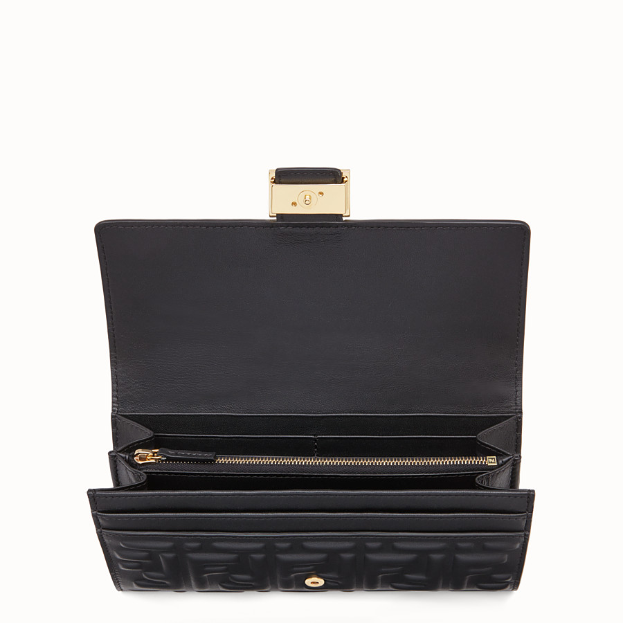 FENDI CONTINENTAL - Black nappa leather wallet - view 3 detail